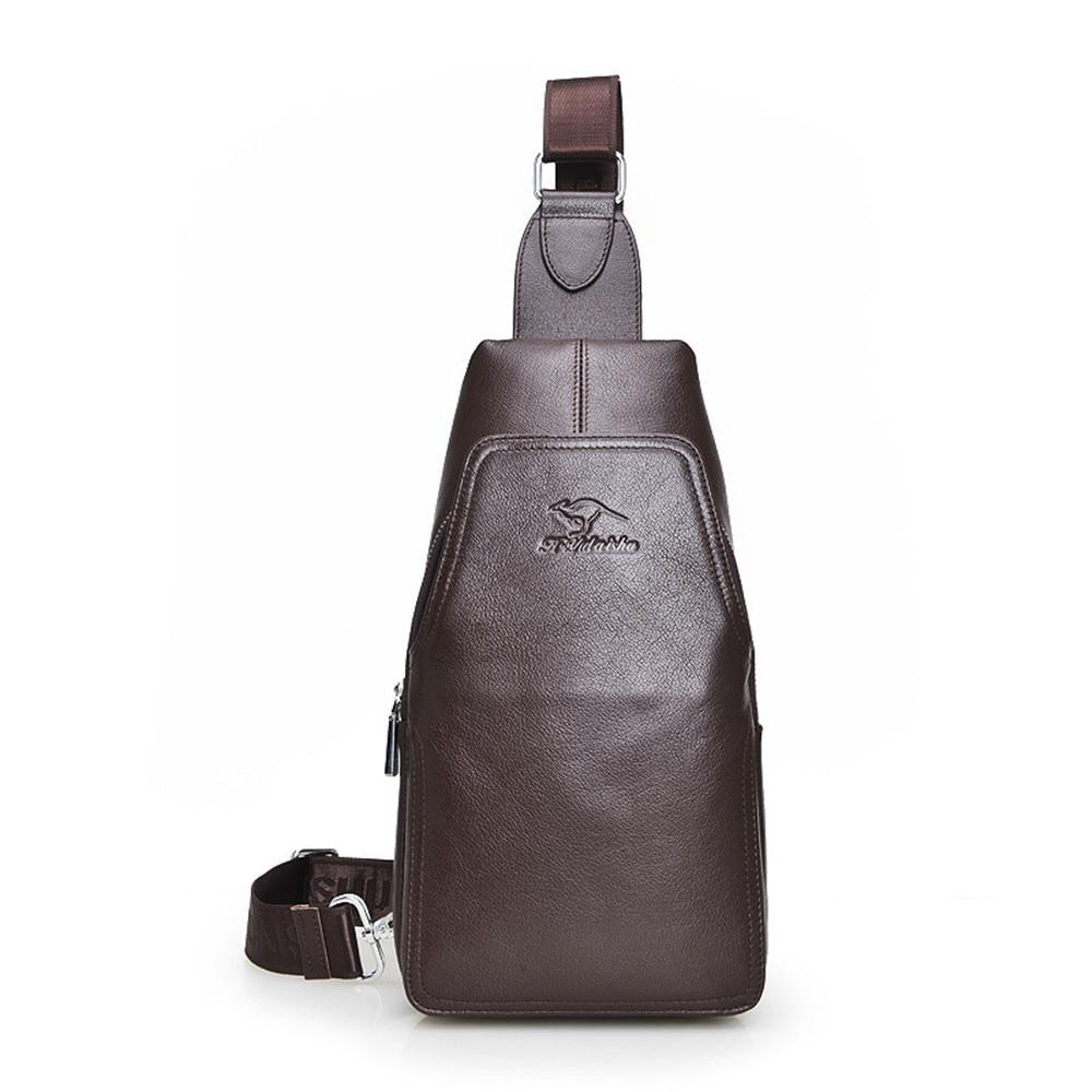 2017 New Arrival Brand Genuine Leather Men Messenger Bags Casual Men Waterproof Sling CrossBody Bags Men Travel Chest Bag цены онлайн