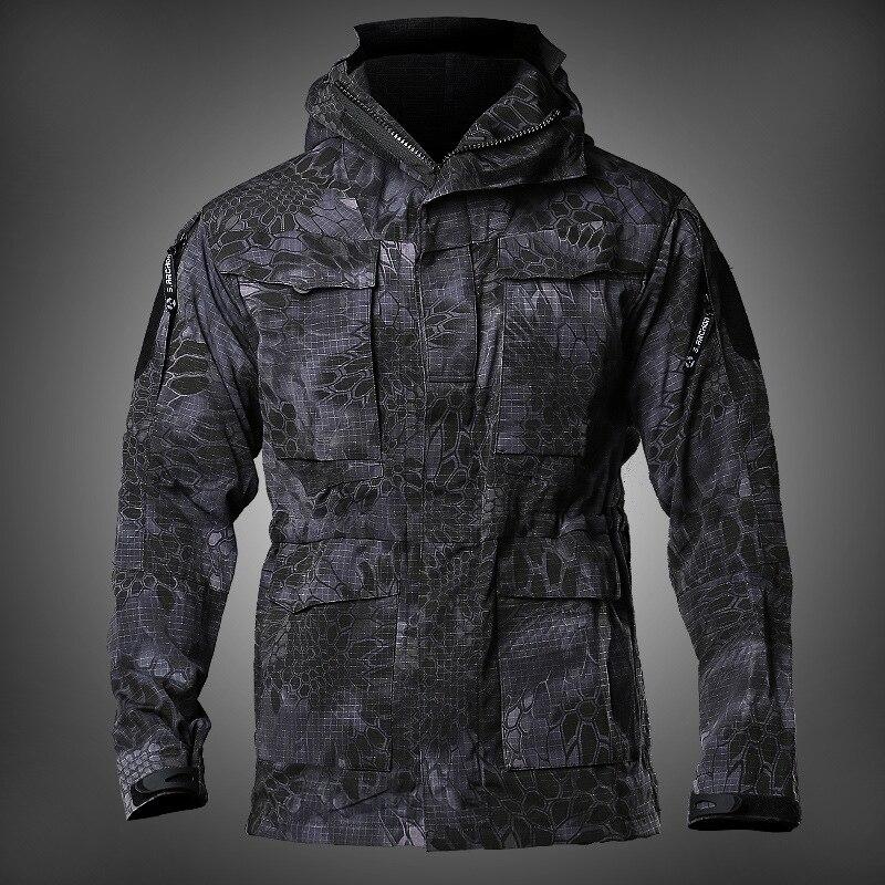 Armée champ tactique veste hommes imperméable Rip-stop Camouflage militaire vestes automne multi-poches coupe-vent manteau