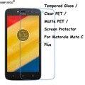 Закаленное стекло/прозрачная ПЭТ/матовая ПЭТ-защитная пленка для экрана для Motorola Moto C Plus/C + XT1723 XT1724 5,0\