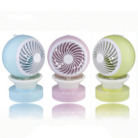 USB Rechargeable Air Conditioning Cooling Fan Color Lights Mini Spray Aromatherapy Humidifier Student Use Home Office