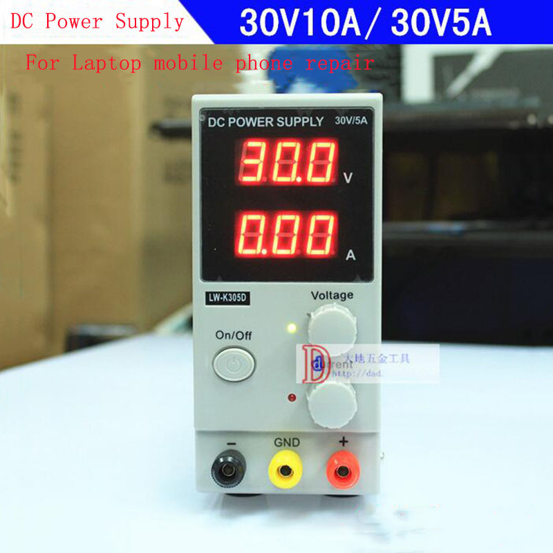 цена LW-K3010D Voltage Regulator Regulated Adjustable DC Power Supply SMPS Single Channel 30V 10A/5A US/EU/AU Plug