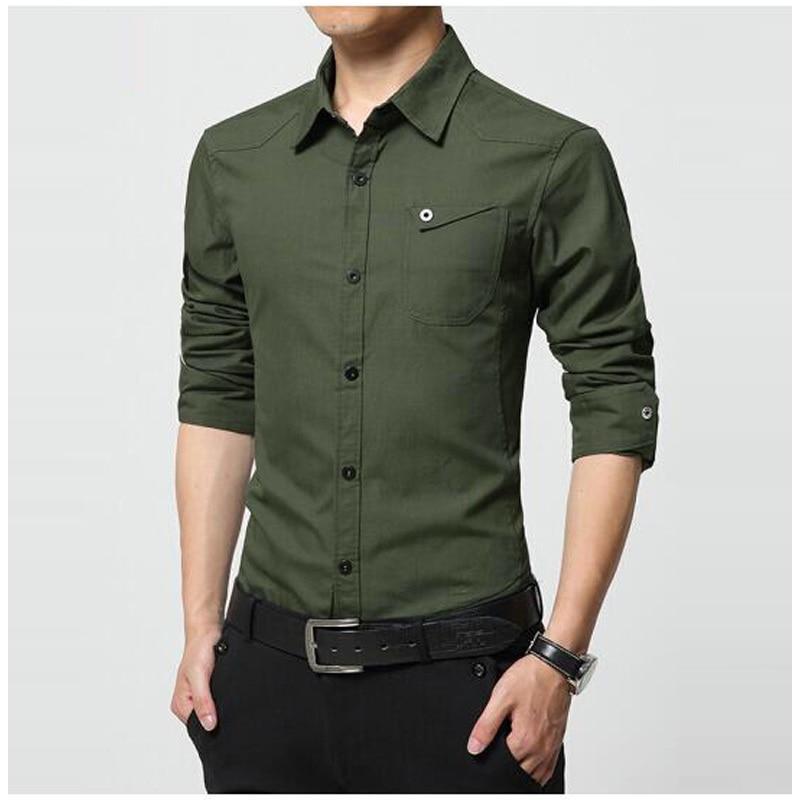 2017 Men Fashion Casual Long Sleeved shis