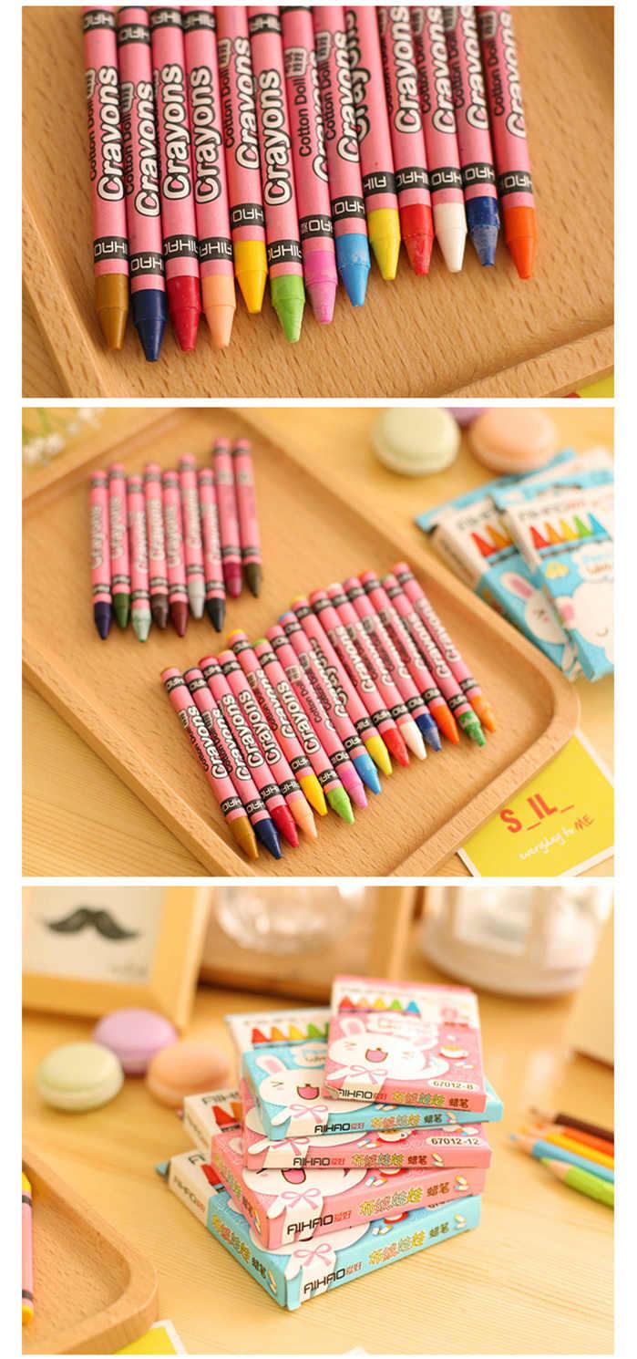 24 crayon de couleur pour enfants Mini pastel pack cadeau papeterie fournitures scolaires matériel escolar infantil F890