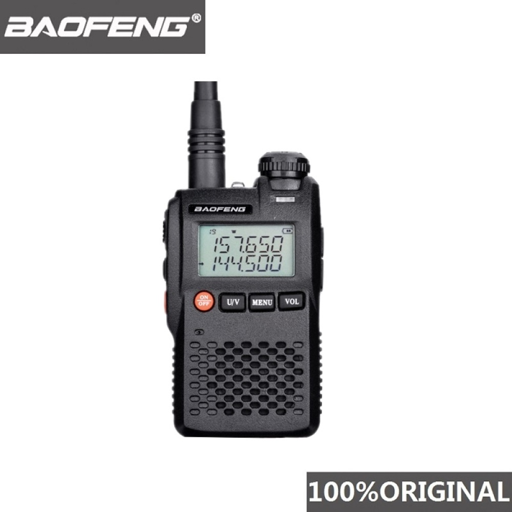 100% Original Best Price Baofeng UV 3R Mini Walkie Talkie Dual Band VHF UHF Portable UV3R Two Way Radio Ham Hf Transceiver UV 3R-in Walkie Talkie from Cellphones & Telecommunications