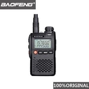 Image 1 - 100% Original Best Price Baofeng UV 3R Mini Walkie Talkie Dual Band VHF UHF Portable UV3R Two Way Radio Ham Hf Transceiver UV 3R