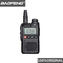 Baofeng 100% Mini Walkie Talkie de doble banda VHF UHF portátil, UV3R, transceptor de Radio bidireccional Ham Hf UV 3R, UV 3R Original al mejor precio