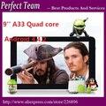 9 ''Allwinner A33 quad core câmera dupla 512/8G Android 4.2.2 os Tablet PC
