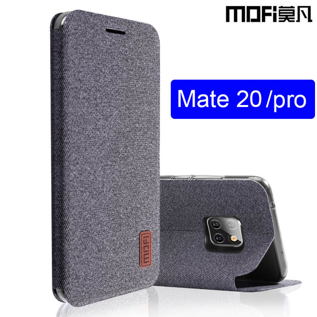 new arrival 9b96c d0cfc US $9.0 11% OFF|for huawei mate 20 pro case mate 20 flip cover fabric full  protective silicone case coque MOFi original for huawe mate 20 case-in Flip  ...