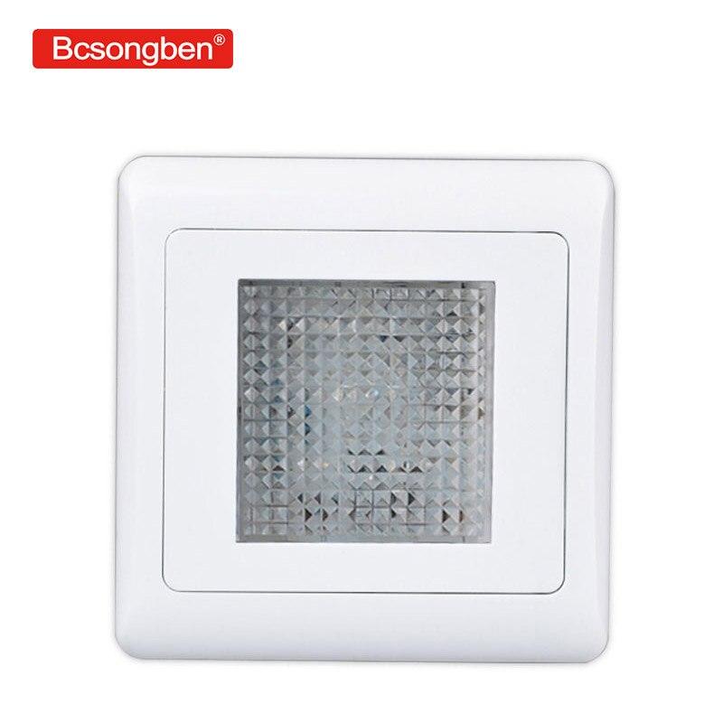86 LED incorporato piede di controllo interruttore della luce scale giardino interni esterni da parete camera da letto ha condotto la lampada 220 v