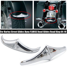 Cromo frente Fender Trim acento para la calle Harley se desliza FLHRSE FLHRS camino rey carretera se desliza FLHTCSE FLHTCUSE