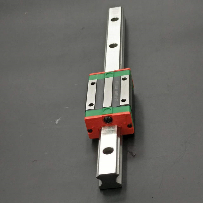 CNC Set 25-800mm 2x Linear Guideway Rail 4x Square type carriage bearing block toothed belt drive motorized stepper motor precision guide rail manufacturer guideway