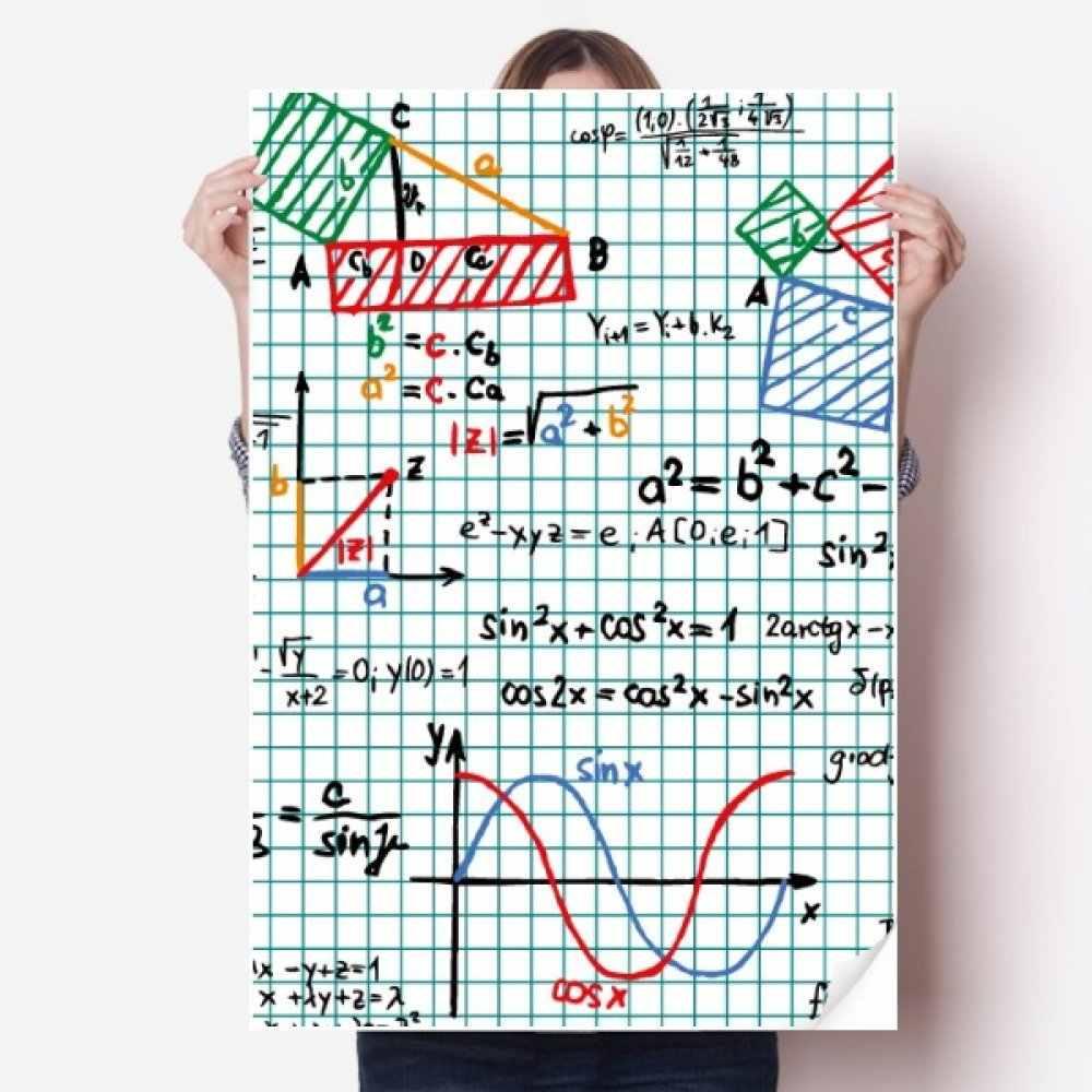 Diythinker 三角機能数学ビニール壁のステッカーのポスター壁画壁紙