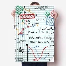 DIYthinker Trigonometric Function Mathematical Formulas Vinyl Wall Sticker Poster Mural Wallpaper Room Decal 80X55cm wusqwsc mathematics equation necklace mathematical formulas jewelry quantum physics chokers