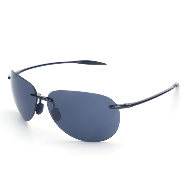 c1421da78fd Vazrobe Rimless Men s Sunglasses Nylon Lens anti Explosion Driving Sun  Glasses for Man foldable frog aviation