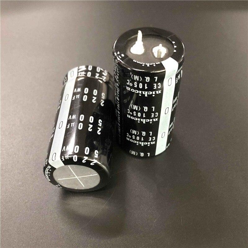2PCS/10PCS 220uf 500v Nichicon LQ 25x50mm 500V220uF Snap-in PSU Capacitor