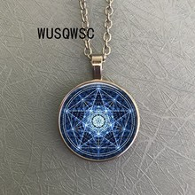 WUSQWSC Retro Star of David Sacred Geometry necklace Hanukkah Jewish Magen David pendant handmade Solomon seal necklace badges(China)