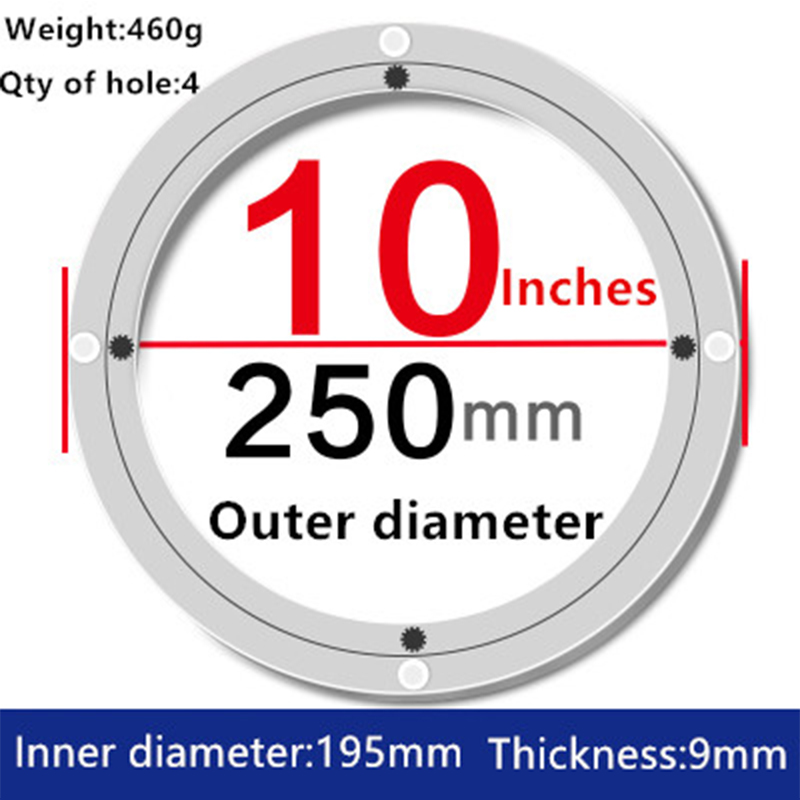 2pcs 10 inches 25cm Small Lazy Susan Turntable Dining Table Aluminium Alloy Swivel Plate for Kitchen Furniture