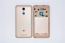 Оригинальный Для Xiaomi Redmi Note 3 Запасные Запчасти сзади Батарея крышка двери Корпус + боковые Пуговицы + Камера стеклами Замена