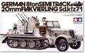 Tamiya 1/35 35050 alemão 8ton Semitrack 20 mm Flakvierling sd. Kfz7 / 1 Kit modelo de plástico frete grátis