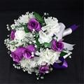 Elegant Bridesmaid Flower Wedding Bouquet Artificial Buquet de noivas Handmade Flowers Rose Bridal Bouquets Brooch with Ribbon