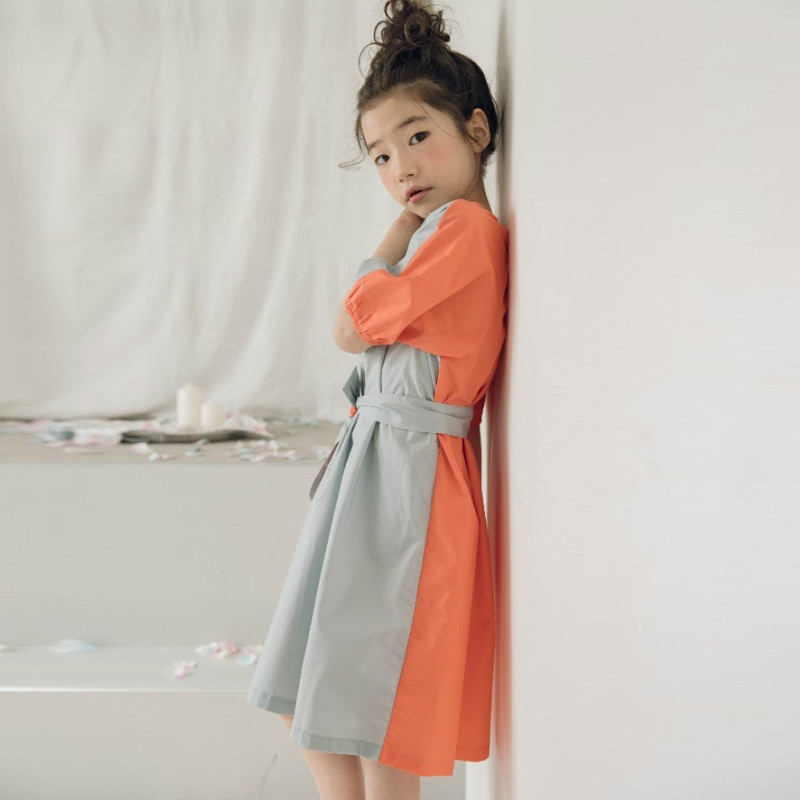 New 2019 Girls Dress Patchwork Color Cotton Baby Princess Dress Kids Children Summer Clothes Mother and Daughter Dress,#3978