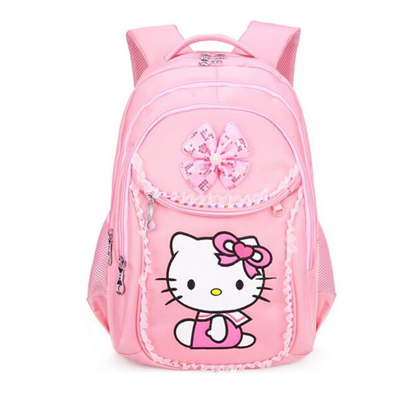 ... 3pcs Hello Kitty Backpack for Girls Cartoon Waterproof Bowknot Sequin  Schoolbag for Children Casual Shoulder Bag ... ce2edf139d171