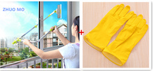 High-rise Window cleaning brush washing windows and Waterproof latex gloves window cleaner dust tools