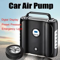 Portable 12V Preset Digital Display Double Cylinder Car Tire Air Pump Inflator