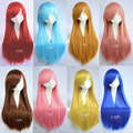 Paidian 9 colors Choice 75cm/250g Long Colorful Straight Anime cosplay wigs costume party Hair  M08