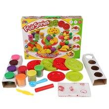 8 цветов красочный 3d playdough детей игрушки из пластилина, глины пластилин play тесто набор головоломка фрукты набор с пластилина инструменты