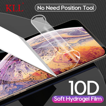 10D Full Cover Hydrogel Film for iPhone 11 Pro Max X Xs XR Screen Protector 7 8 6 6s Soft with Position Glue