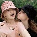 Новые весной и летом девушки yizi пятно женские модели принцесса шляпа шляпа солнца ребенок холст hat