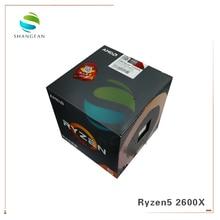 Neue Box CPU AMD Ryzen5 2600X R5 2600X3,6 GHz Sechs Core Zwölf Gewinde 95W CPU prozessor YD260XBCM6IAF Buchse AM4 Mit kühler fan