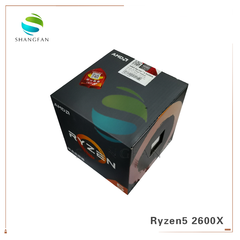 New Box CPU AMD Ryzen5 2600X R5 2600X 3.6 GHz Six-Core Twelve-Thread 95W CPU Processor YD260XBCM6IAF Socket AM4 With Cooler Fan