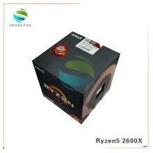 Nowy procesor AMD Ryzen5 2600X R5 2600X3.6 GHz sześciordzeniowy dwunastogwintowy procesor CPU 95W YD260XBCM6IAF gniazdo AM4 z wentylator chłodnicy