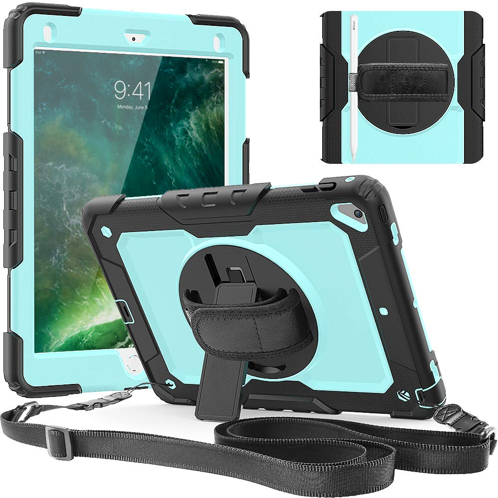 For iPad 9.7 2018//6th Gen//Air 2//iPad 6 Tablet Stand Case Cover+Screen Protector