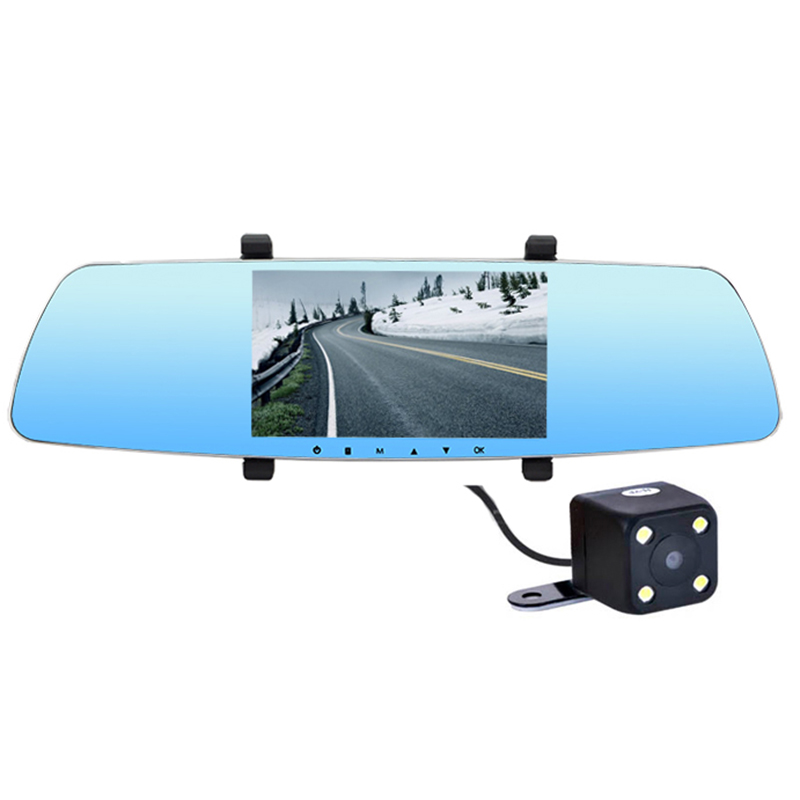 car dvr with 5in IPS Super Night Vision rearview mirror camera Dual lens WDR Parking dashcam 1080p car cam anstar 3 car dvr dual lens car camera dvr rear view camera mirror blackbox dash cam night vision dashcam car recorder registrar