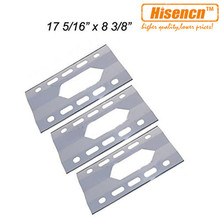 Hisencn 91281 3pcs/pk Replacement SS Heat Shield Tent Shield For Costco Kirkland , Nexgrill 720-0011,720-0047-U Gas Grill Models