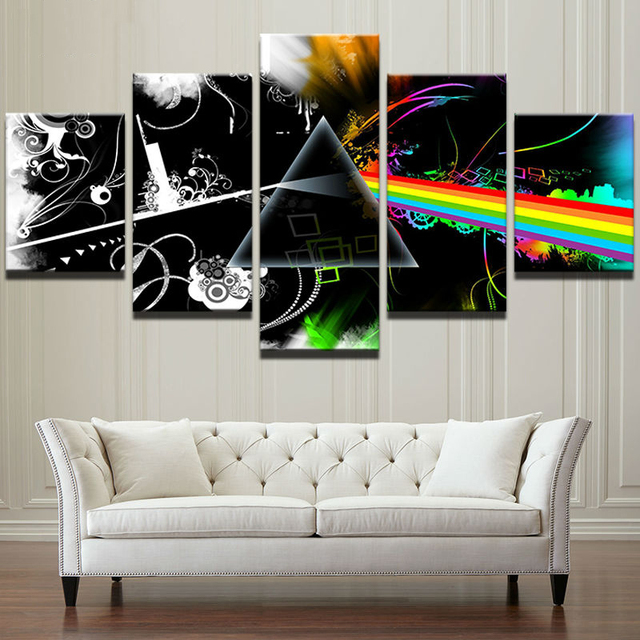 HD Printed 5 Pieces Modern Home Decor Canvas Posters Frames Music Painting Vintage Pictures Living Room Bedroom Wall Art Posters