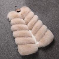 Faux Fur Coat Winter Women 2018 New Fashion Casual Warm Slim Sleeveless Faux Fur Vest Winter Jacket Women casaco feminino HN236