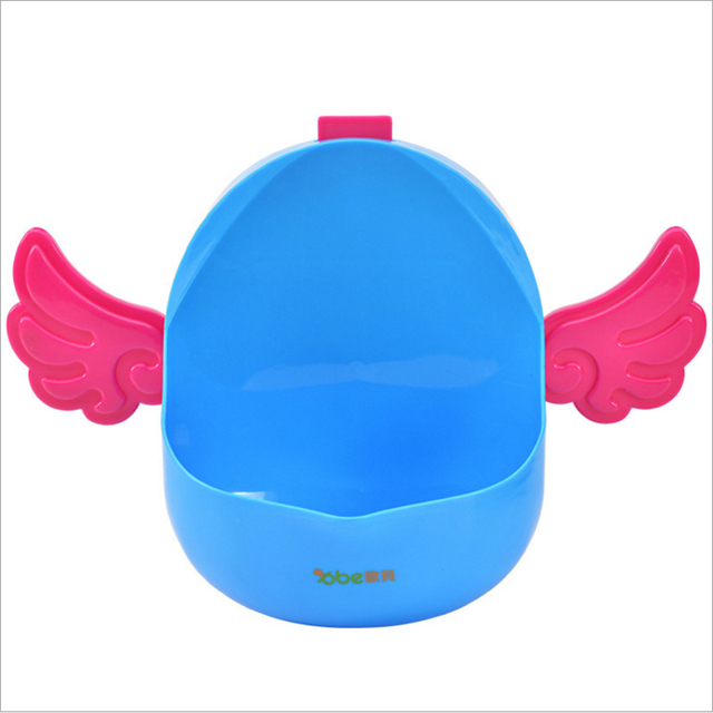 Angel Shaped Baby Potty Children boys Stand Vertical Urine Wall-mounted Urine Groove Portable Baby Toilet  Trainer ABE606