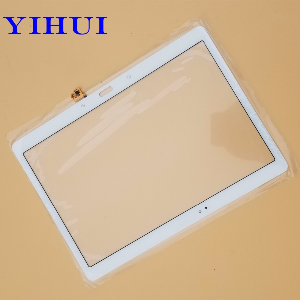 YIHUI 10.5 inch Front Digitizer Glass Panel for Samsung Galaxy Tab S T800 T805 SM-T800 SM-T805 Touch Screen White srjtek 10 5 for samsung galaxy tab s t800 t805 sm t800 sm t805 touch screen digitizer sensor glass tablet replacement parts