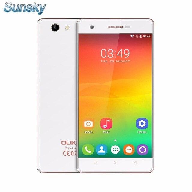 Original mtk6737 oukitel c4 4g lte smartphone android 6.0 quad core 5.0 pulgadas 1.3 GHz 1 GB 8 GB Dual SIM OTG 5.0 Cámara Móvil teléfono