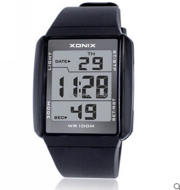 Mens Sports Watches Digital Waterproof 100m Multi function Students Sports Watch