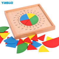Baby toys wooden building chopping block brand fraction board montessori education for kids learning toys child gift