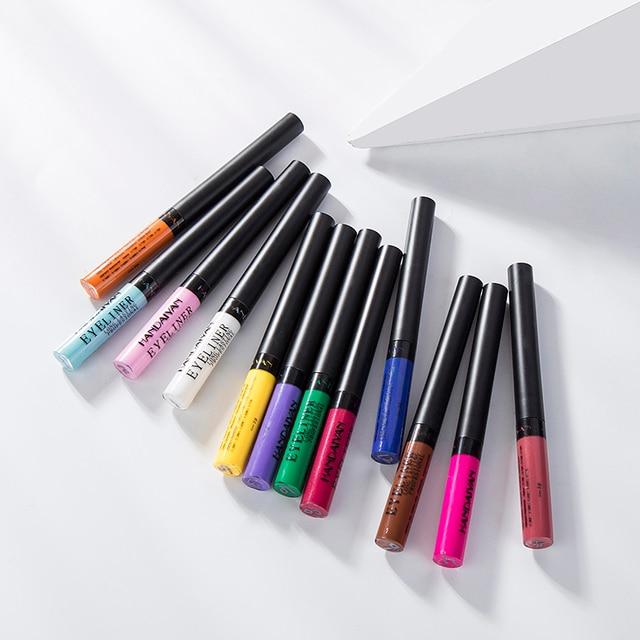 HANDAIYAN Colorful Eyeliner Pencil Eyes Cosmetics Brown Liquid Eye Liner Pen Makeup Color Eyeliners Waterproof Felt-tip Eyliner 2