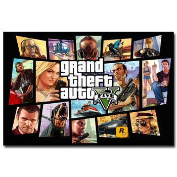 Шелковый Плакат Гобелен Grand Theft Auto V Вариант 7