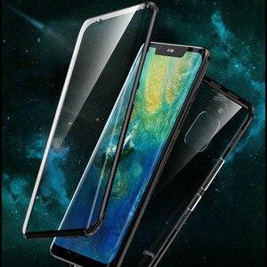 Image 3 - Роскошный защитный чехол из закаленного стекла для телефона, Магнитный чехол для Huawei P20 PRO, Huawei P30 PRO Mate 20 pro, honor View 20, ударопрочный чехол для дома