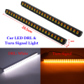 Car Styling LED Dual Color White &Amber Switchback LED DRL Turn Signal Light Kit + Resistor Error Free Canbus
