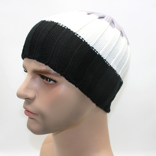 185bf36b5 US $3.52 |Autumn and winter man hats slouchy beanie hat crochet pattern  winter children skullies beanies plain black mens beanie hats-in Skullies &  ...